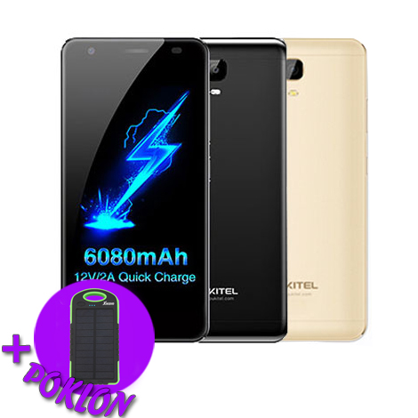 Oukitel K6000Plus Android7.0 6080mAh MT6750T 8core 4GB 64GB poklon