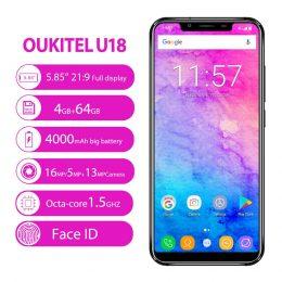 OUKITEL-U18-5-85-Inch-4GB-64GB-Smartphone-Black-Android7.0-08