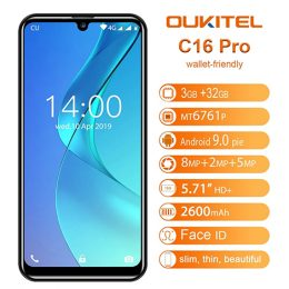 Oukitel_C16pro_5.71inch-IPS_MT6761_Quad-Core_2.0GHz_3GB_32GB_2600mAh_Android9_02